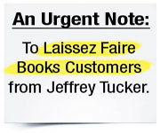 Urgent Note From Jeffrey Tucker
